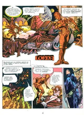 Lorna y su Robot de Alfonso Azpiri