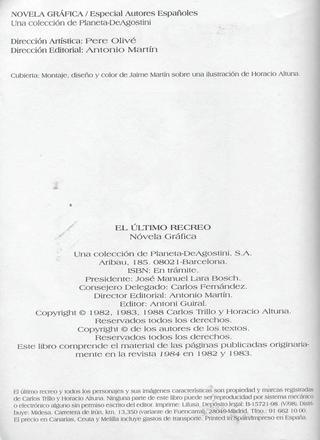 El Ultimo Recreo de Horacio Altuna
