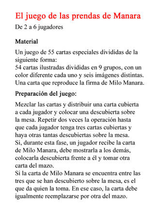 El Juego de Milo Manara