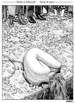 Garras de Angel de Moebius, Jodorowsky